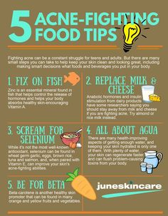 Here are the 5 acne-fighting Food Tips to let you know on how to fight for those acne. But if you are lazy to pursue the food tips, you can avail of our IPL Acne Management Treatment now , our IPL acne Management Treatment will take the acne woes away with our active and useful blends of skin remedy specially for oily acne-prone skin. Call us at +65 6256 8767 or message us to make appointment. ‪#‎Juneskincare #IPL #Treatment #Acne #naturalskincare #skincareproducts #Australianskincare…