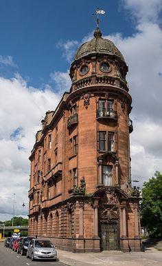 Savings Bank, New City Road, Glasgow Neil C Duff, 1909. Edwardian Baroque. Listed Category B.