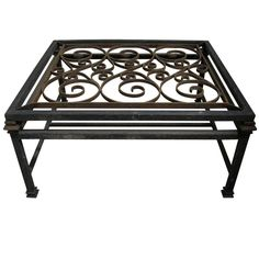 Recycled Timber Square Coffee Table With Wrought Iron And Glass   Home    Pinterest   Square Coffee Tables, Wrought Iron And Iron