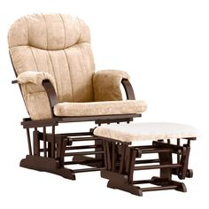 Have to have it. Storkcraft Hoopback Glider and Ottoman Set - Cherry/Beige $129.98