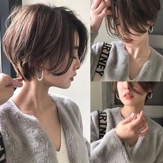 Pin on 髪型 Short Hair With Layers, Short Hair Cuts, Pixie Hairstyles, Pixie Haircut, Brown Hairstyles, Medium Hair Styles, Curly Hair Styles, Korean Short Hair, Shot Hair Styles