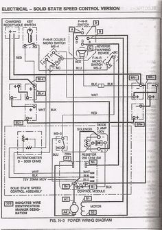 ezgo golf cart wiring diagram ezgo pds wiring diagram ezgo pds rh pinterest com  ez go pds golf cart wiring diagram