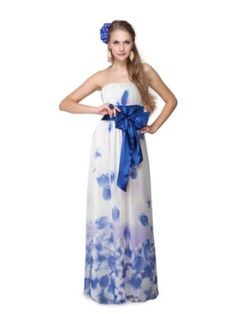 Ever Pretty Chiffon Strapless Floral Printed Bow Long Prom Dress 09687, - Sale: From	$59.99 [ http://www.apparelique.com/ever-pretty-chiffon-strapless-floral-printed-bow-long-prom-dress-09687/ ]