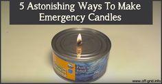 5 Astonishing Ways To Make Emergency Candles ►► http://off-grid.info/blog/5-astonishing-ways-to-make-emergency-candles/?i=p