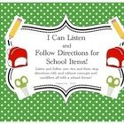Practice crucial listening and following directions with your students with this fun back to school packet.   *Three picture strips are included wi...