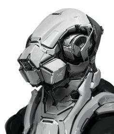 Mech Head by Robotpencil.deviantart.com on @DeviantArt
