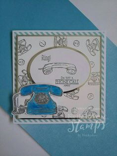 For The Love of Stamps A Phone Call Away #fortheloveofstamps #aphonecallaway #dtsample #cards #cardmaking #stamping #stamps #handmade #craft Cardmaking, Stamping, Masks, Crafting, Love, Handmade, Ideas, Amor, Making Cards