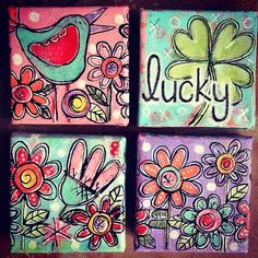 Getting some new little paintings listed. :) by gina mckinnis, via Flickr