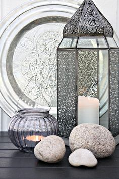 Love this. Anything Moroccan I just go crazy over! B -Use your rock collection.