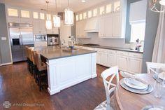 Dream kitchen with an island - modern luxury.