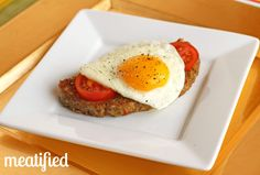 Slow Cooker Breakfast Meatloaf  Super easy and tasty! Make ahead and have easy breakfast for the week.