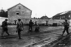 World War 2 - April 29, 1945 - U.S. 7th Army liberates Dachau extermination camp.  Many guards were executed by the US Army who were disgusted by their behaviour.