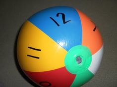 Number review game with a beach ball!