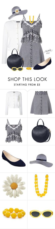 """Gingham Style"" by michellesherrill ❤ liked on Polyvore featuring Loveless, Miss Selfridge, Clare V., Nine West, Black, Kim Rogers and Dries Van Noten"