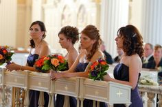 Beautiful Picture of the Bridesmaids... they do NOT have to stand the whole time :)