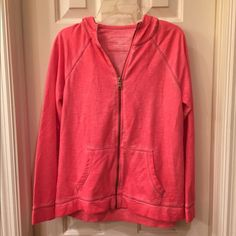 Sonoma NWT hoodie jacket size Sp NWT zip front jacket has a spray paint effect applied to the fabric The look is street chic the fabric is incredibly soft Size Sp tag attached no flaws Sonoma Jackets & Coats