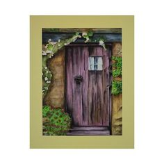 NOVICA Original Watercolor Painting of a Door from India ($120) ❤ liked on Polyvore featuring home, home decor, wall art, brown, impressionist paintings, paintings, brown wall art, flower paintings, flower stem and window wall art