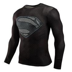 51722cd5 Men Crossfit Long Sleeve Compression Shirt 3D Anime Superhero Superman  Captain America T Shirt Tights Fitness Men Tops & Tees