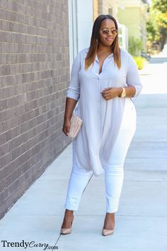 Kristine of TrendyCurvy.com Outfit details found here Los Angeles, CA…