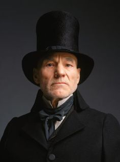 "Patrick Stewart as Ebenezer Scrooge in the 1999 edition of ""A Christmas Carol"" by Charles Dickens. Men In Black, Patrick Stewart, Oliver Twist, Portsmouth, Dickens Christmas Carol, Ebenezer Scrooge, Star Wars, Thing 1, British Actors"