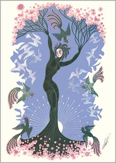 The Seasons: Spring by Erte