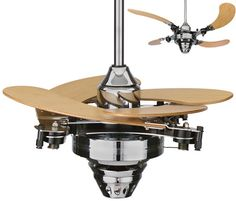 retractable ceiling fan blades