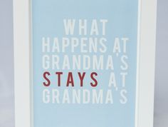 Framed Grandma Quote Wall Art