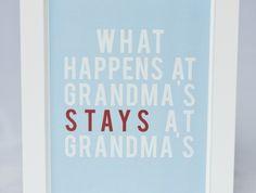 Framed Grandma Quote Wall Art