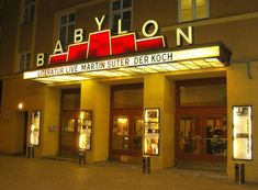 BERLIN, Germany - Kino Babylon is a grand old movie theater popular on the festival circuit. Huge screens and seats for 447. During the decades of division it served as one of East Berlin's leading cinemas.