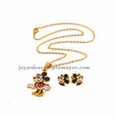 cute pendant necklace with earring for kids - SSNEG051157