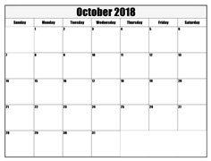 Calendar October 2018 Printable Printable Calendar October 2018 Canada Printable Calendar October 2018 Monthly Printable Calendar October 2018 with Holidays Printable Calendar of October 2018 [. Blank Calendar, Print Calendar, Printable Calendar Template, Alphabet Letters, Good To Know, October, Printables, Templates, Words