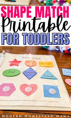 Shape Matching Worksheet for Toddlers | Modern Homestead Mama