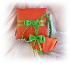 Orange and Green Wedding Accessories