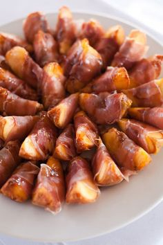 Grilled Prosciutto-Wrapped Peaches {There was no recipe for this one so we winged it. It will definitely be made again}
