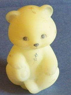 Fenton Milk Glass Sitting Bear