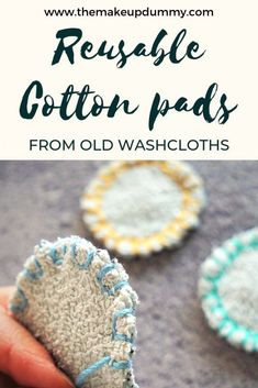 Reusable Cotton Pads – Zero Waste DIY Tutorial How to make and wash your own reusable makeup remover cotton pads with easy materials you already have at home. A great eco-friendly zero waste DIY tutorial by The Makeup Dummy Handwerk nach Hause Zero Waste, Sewing Projects, Diy Projects, Craft Tutorials, Craft Ideas, Cotton Pads, Tampons, Sustainable Living, Sustainable Design