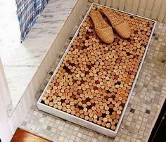 Badmat van wijnkurken om zelf te maken