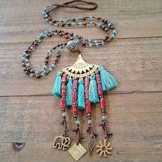 Frolic Stones...Boho necklace
