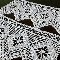 SET of 2 Vintage lace 1960s Handmade Art Collectibles by MyWealth