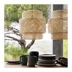 SINNERLIG Loftlampe, bambus bambus -