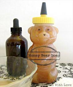 Homemade Honey Bear Soap Recipe http://herbsandoilshub.com/homemade-honey-bear-soap-recipe/  This homemade liquid soap is  antibacterial, anti-fungal and moisturizes.