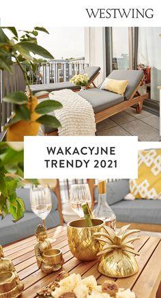 Trendy wnętrzarskie na lato 2021 to przede wszystkim naturalne kolory i materiały oraz dominujący we wnętrzach: spokój, harmonia i wyciszenie. Jeśli i Ty czujesz potrzebę pięknej metamorfozy i odświeżenia swojego otoczenia sprawdź co przygotowaliśmy dla Ciebie na Westwing! / #Summer #SummetTrends #HomeInterior Summer trends 2021 must haves trendy na lato 2021 inspiracje wnętrza wakacje balkon
