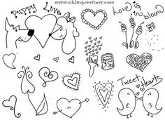 Valentine Embroidery Patterns by mindboggld, via Flickr