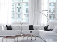 10 Luxurious White Living Room Ideas