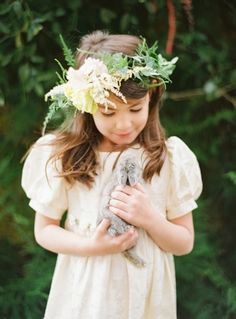 The flower girl with her bunny: http://www.stylemepretty.com/2015/04/05/pastel-easter-wedding-inspiration/ | Photography: Jodi Miller - http://jodimillerphotography.com/