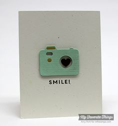 made by amy. simple camera card but so cute!!! MFT dienamics cute camera's 2 and stampset picture this.