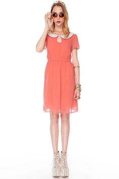 Wendy Lady Dress in Coral $36 at www.tobi.com
