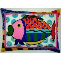 Le Jardin / Fish Indoor Outdoor Pillow