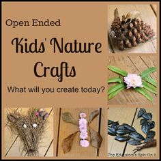 The Educators' Spin On It: Nature Fall Crafts for Kids - Open Ended Play to Encourage Creative Thinking
