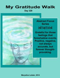 What are your thoughts on intuition? I sense you have some ;-)